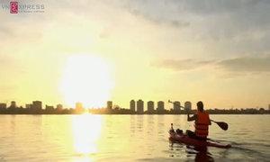 Giới trẻ Hà Nội đam mê lướt ván đứng