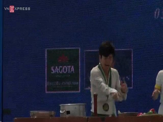 Tiết mục Bibap của Hàn Quốc tại Hội chợ Du lịch Quốc tế VITM 2015