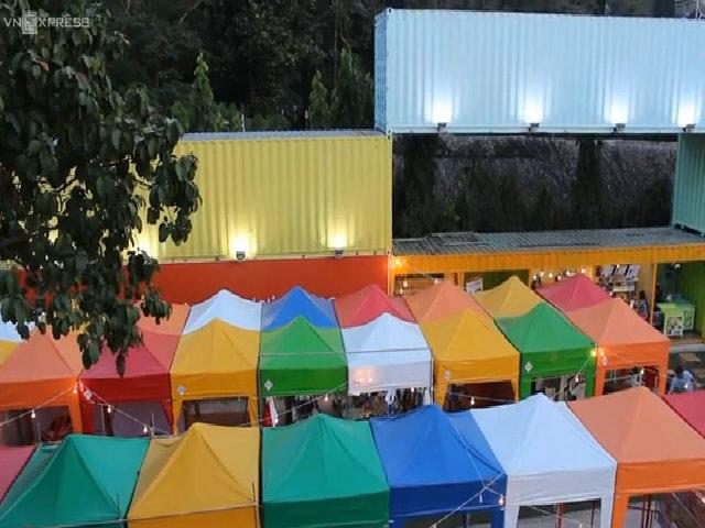 Khu ẩm thực mua sắm bằng container, lều bạt ở TP HCM