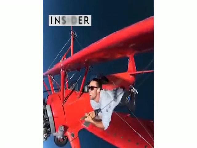 Đi bộ trên cánh máy bay - trò chơi cho người không sợ chết