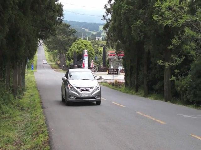 Con đường xe tắt máy tự bò lên dốc ở đảo Jeju