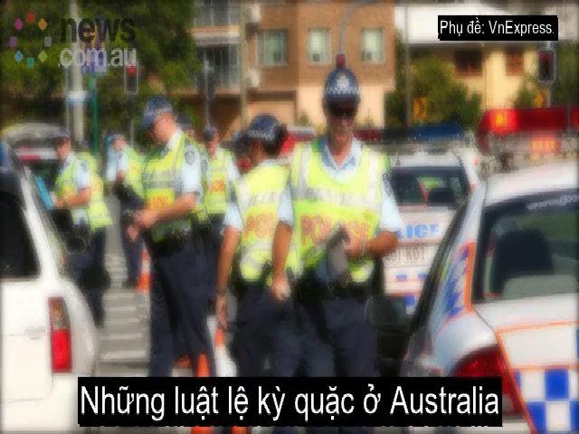 Những luật lệ kỳ quặc ở Australia