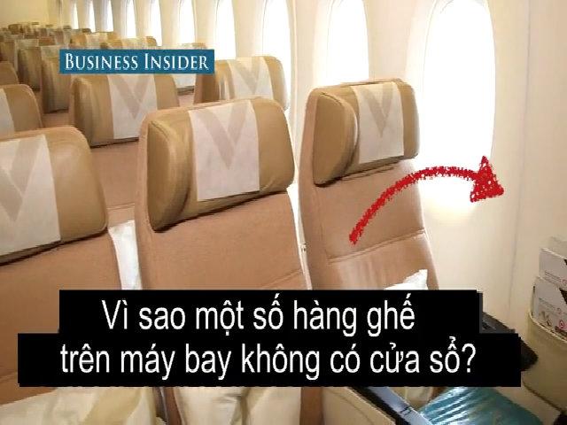 Một số hàng ghế máy bay không có cửa sổ