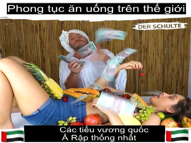 Người dân trên thế giới ăn uống khác người Việt như thế nào?