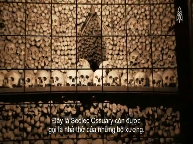 Nhà thờ chứa 40.000 bộ xương người ở Czech