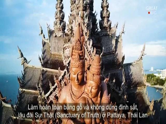 Bêm trong lâu đài gỗ không dùng đinh ở Thái Lan