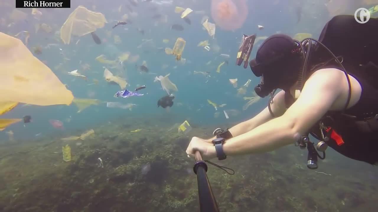 Phút thắt lòng của khách Tây khi thấy Bali ngập trong biển rác