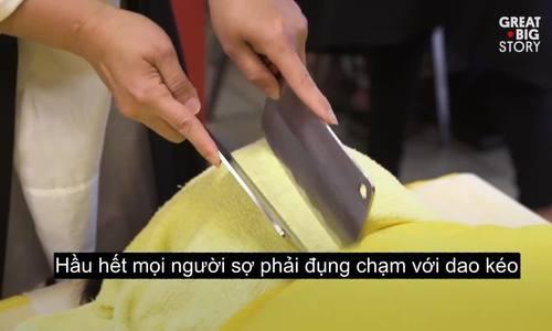 Massage bằng dao phay để chữa bệnh ở Đài Loan