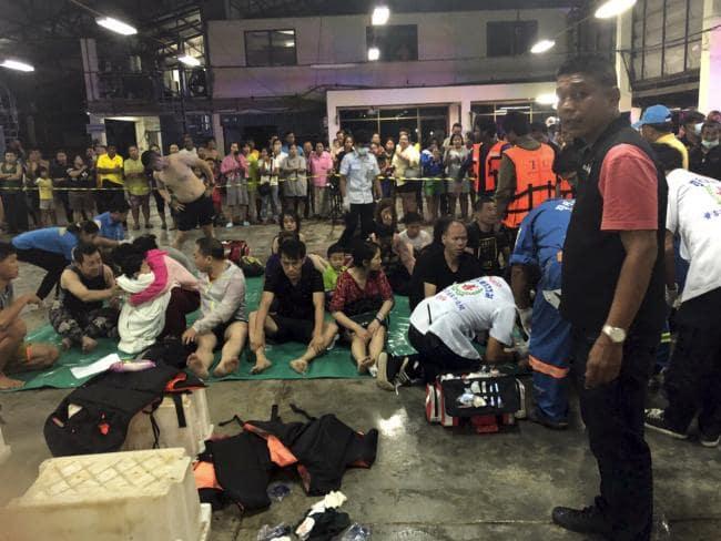 56 người mất tích trong vụ chìm tàu ngoài khơi Phuket
