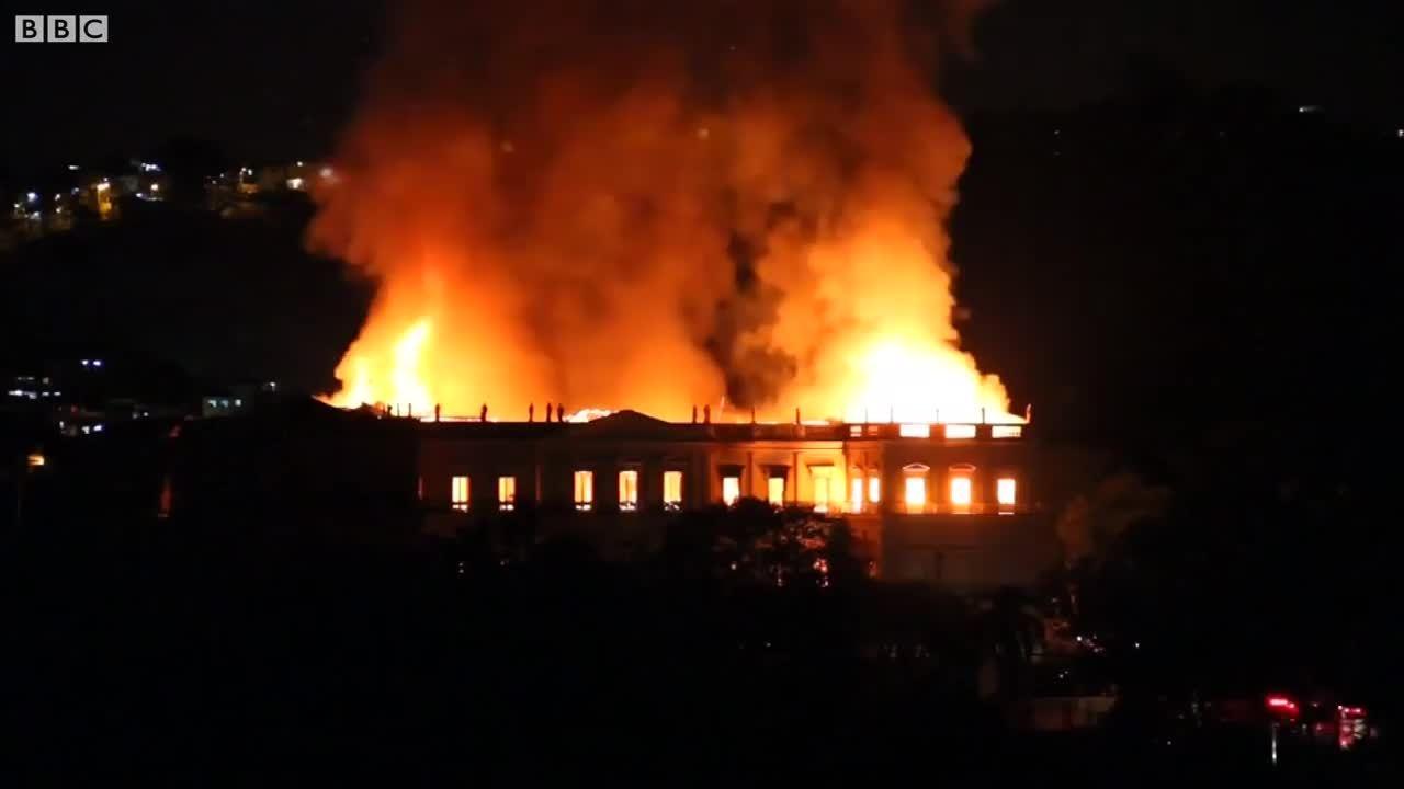 Thảm họa toàn cầu trong vụ cháy bảo tàng quốc gia Brazil/Không thương vong, vụ cháy bảo tàng Brazil
