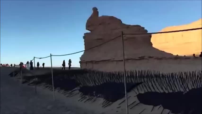 Công viên địa chất Trung Quốc lắp chông để chắn du khách