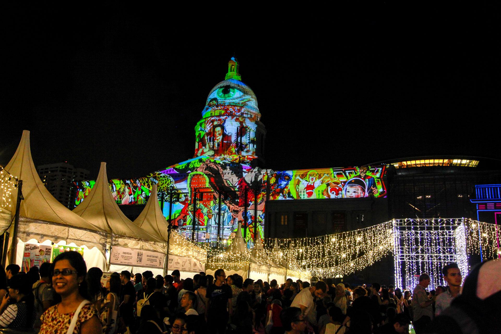 Đại tiệc ánh sáng kỷ niệm 200 hình thành Singapore trước đêm giao thừa