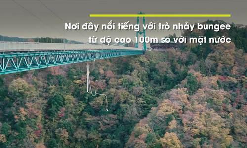 Cú nhảy bungee cao nhất Nhật Bản từ cầu treo