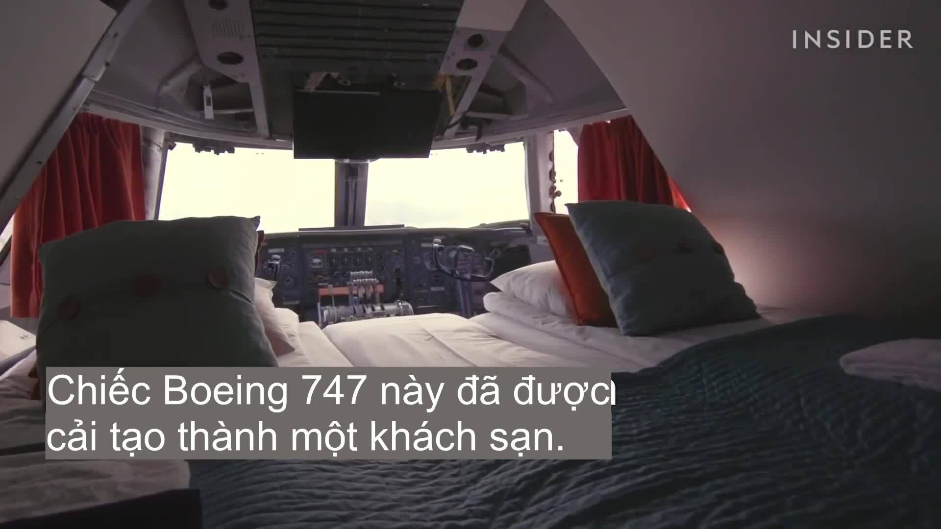 Khách sạn sang chảnh bên trong máy bay Boeing 747