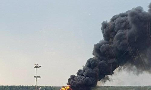 Du khách Việt kể lại cảnh tượng máy bay Nga bốc cháy