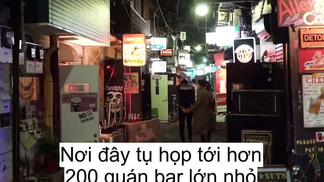 Phố đêm độc đáo với hơn 200 quán bar ở Tokyo