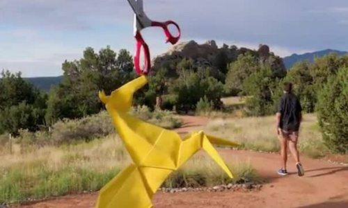 Những tác phẩm Origami khổng lồ
