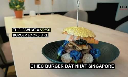 Burger bọc vàng lá 24 karat ở Singapore