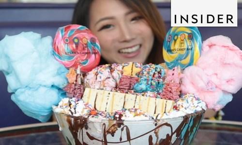 Thử thách ăn kem khổng lồ trong 10 phút/Nơi khách mua kem không cần trả tiền nếu ăn hết trong 10 phú