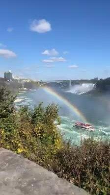 Cầu vồng trên thác Niagara, Canada