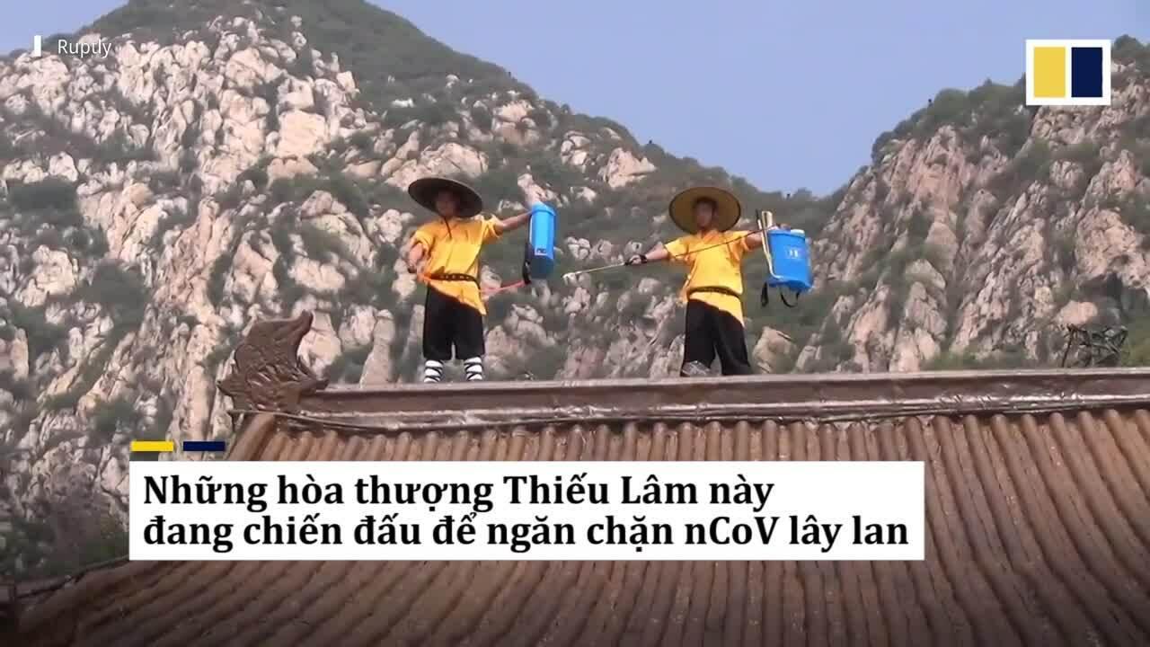 Hoà thượng xuất chiêu kungfu khử trùng Thiếu Lâm Tự