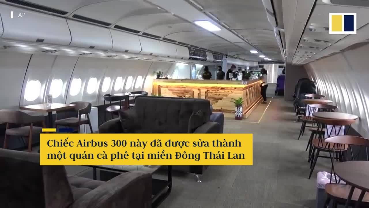 Đại gia Thái Lan cả máy bay làm quán cà phê