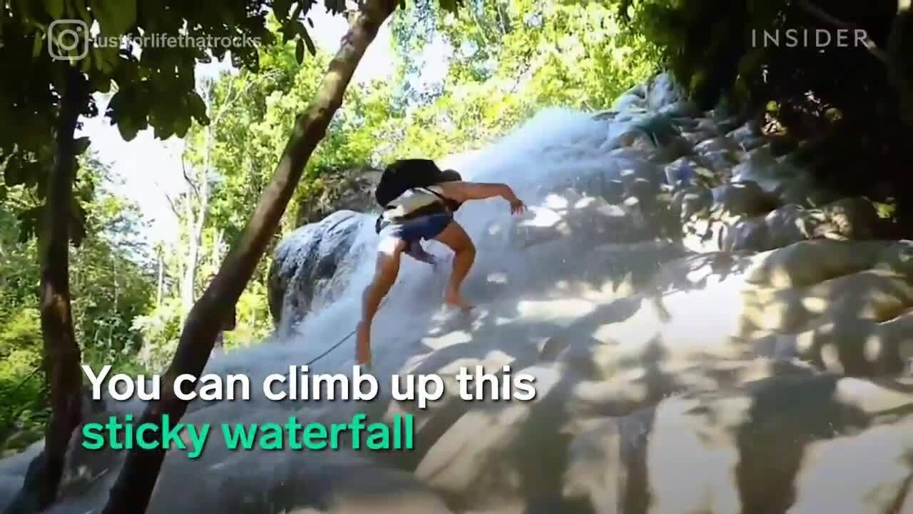 Bí mật về thác nước có thể leo tay không giống Người Nhện