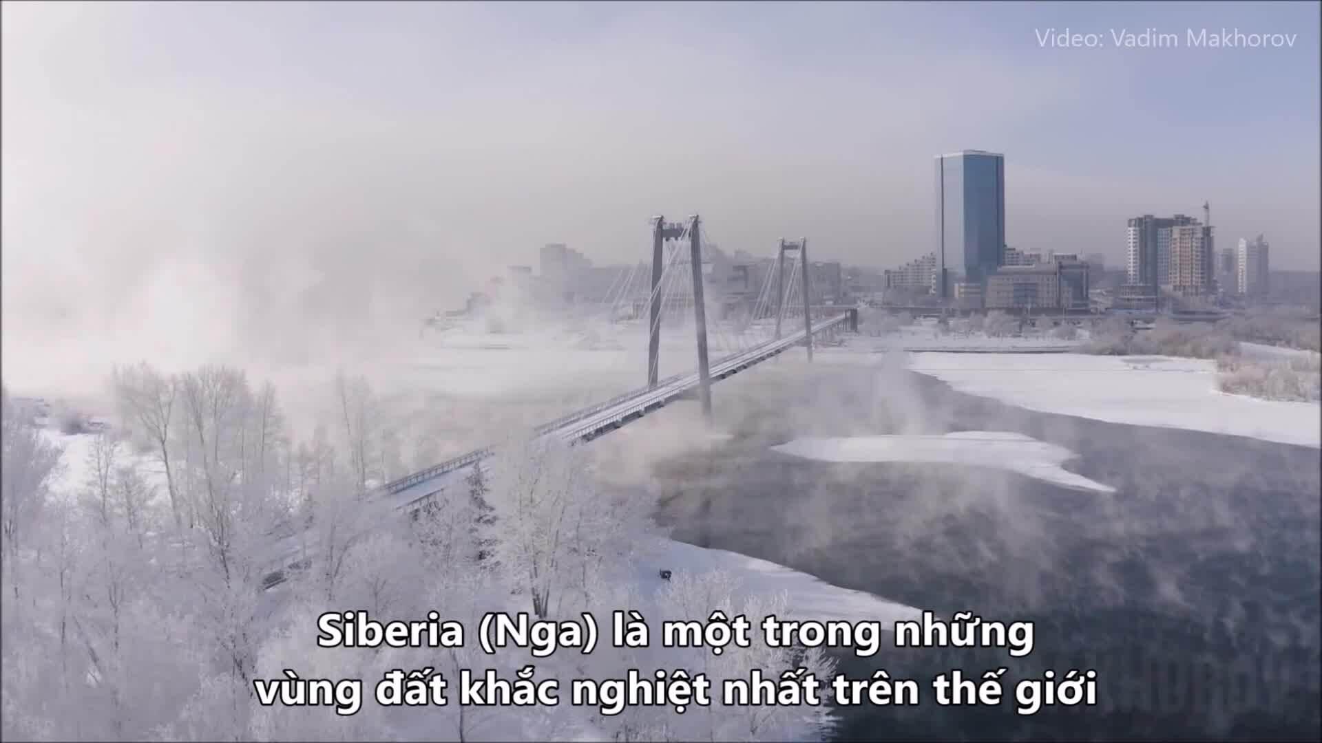 Vẻ đẹp thành phố lạnh lẽo vùng Siberia