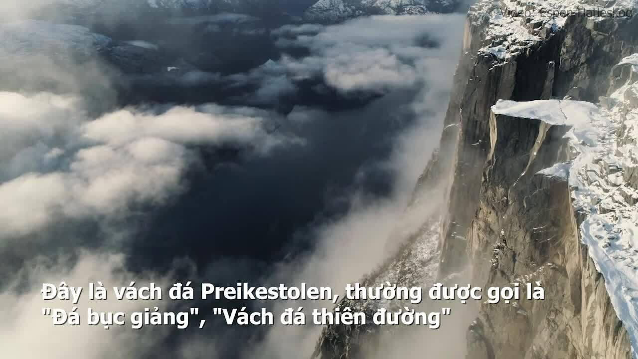 Vách đá 'thiên đường' cao 604 m