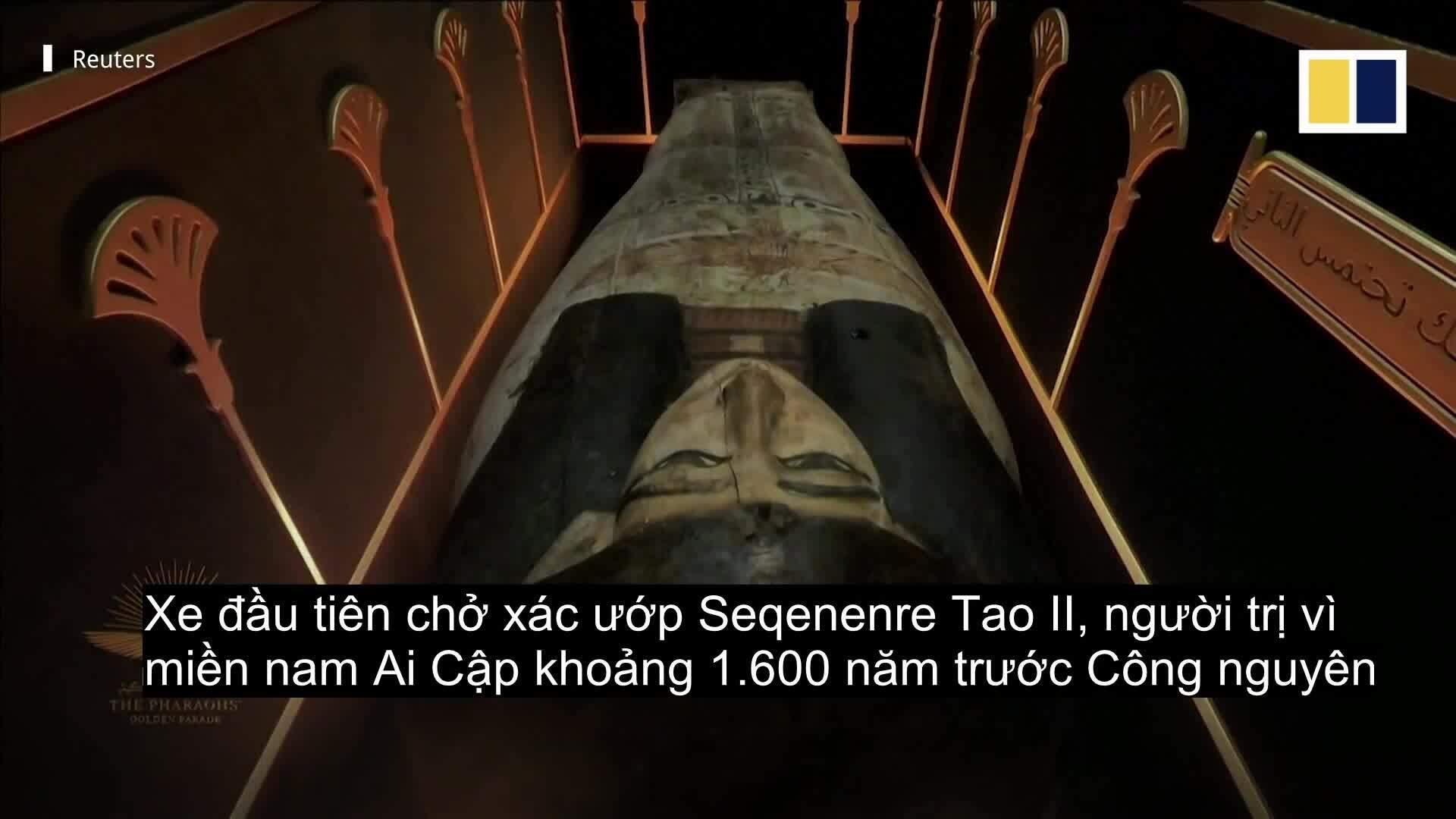 Cuộc diễu hành vàng của 22 xác ướp Ai Cập