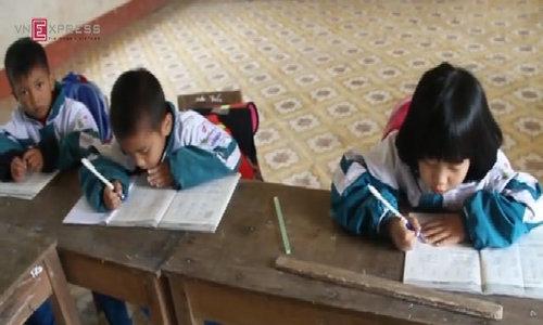 Teachers brave fierce river to reach school on remote island