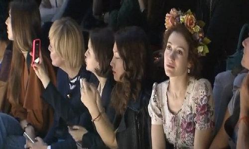 Armani wows Moscow fashionistas
