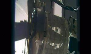 NASA attaches inflatable module to ISS