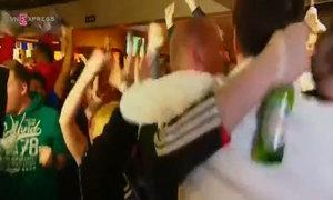 Leicester City fans celebrate winning the English Premier League title