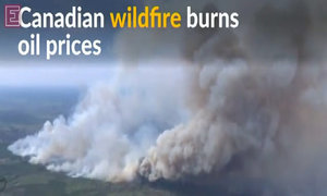 Oil prices hit hard as Canadian wildfire shows no signs of waning