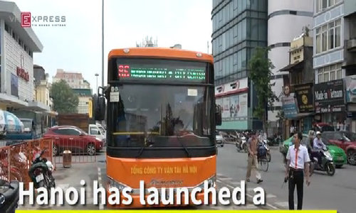 New, cheap and convenient bus route links Hanoi transport hubs - logo fixed
