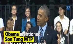 Obama talks to Vietnamese youth like a pro