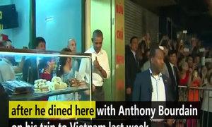 Obama catapults Hanoi eatery to stardom