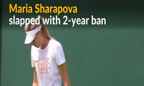 Maria Sharapova gets two-year ban