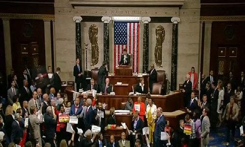 US Democrats occupy Congress over gun control
