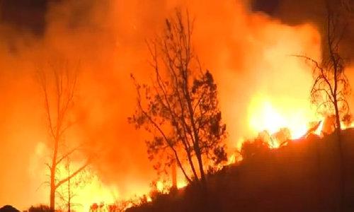 California wildfire destroys 100 homes