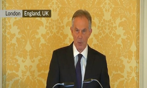 """Slammed over 2003 Iraq war in report, Tony Blair speaks of """"sorrow, regret and apology"""""""