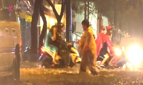 Saigon's central district submerged after downpour