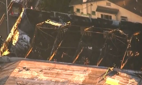 California warehouse fire kills at least nine at dance party