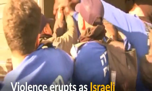 Violence erupts during evictions of Israeli settlers