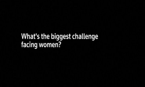 The biggest challenge facing women