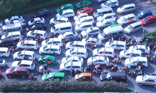 Saigon has a parking problem, and it's not going anywhere