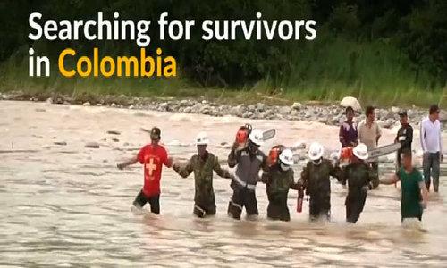 Survivors sought after Colombia mudslide kills 262
