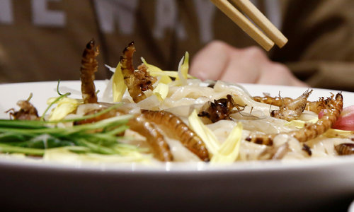 Japan's famed ramen served with a crawly twist