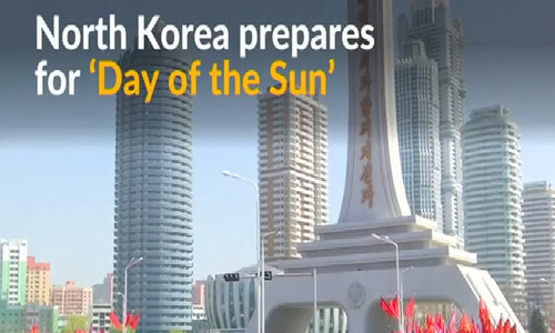 North Korea opens street ahead of national day